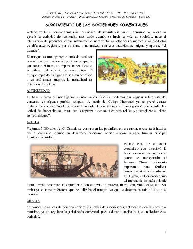 "Escuela de Educación Secundaria Orientada N° 220 ""Don Ricardo Foster"" Administración I – 3° Año – Prof: Antonela Peralta- ..."