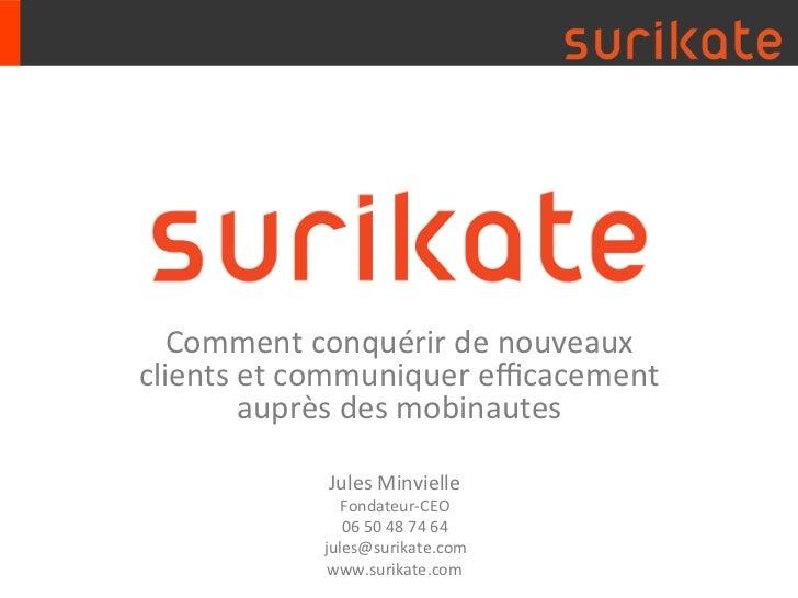 Surikate présentation Salon emarketing