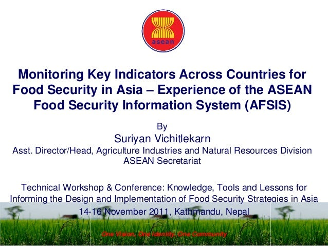 Monitoring key indicators across countries for food security in Asia – experience of the Asia food security information system (AFSIS)