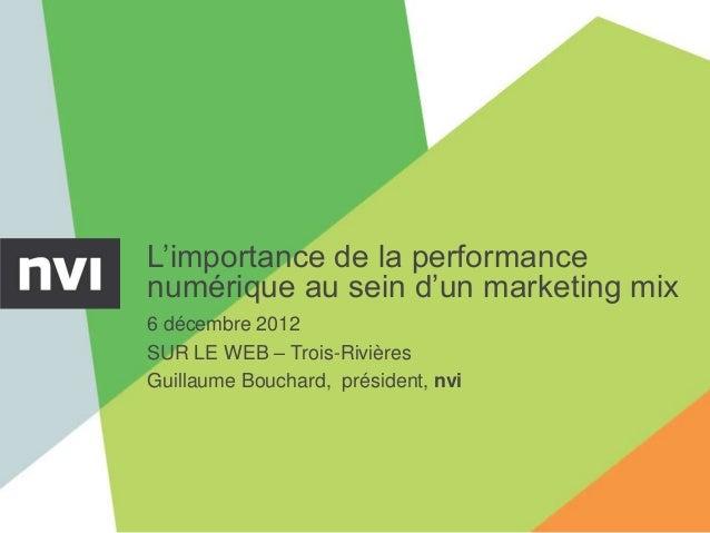 L'importance de la performance numérique au sein d'un marketing mix