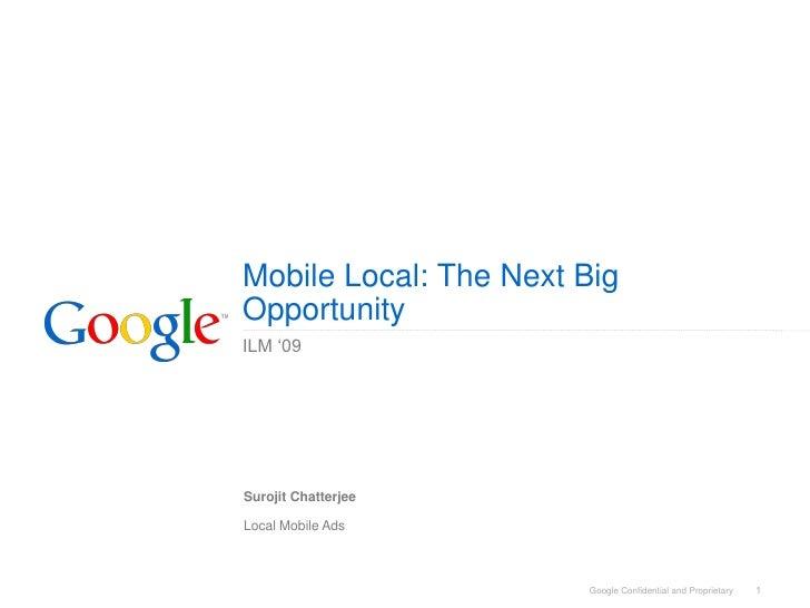 Google Mobile Local