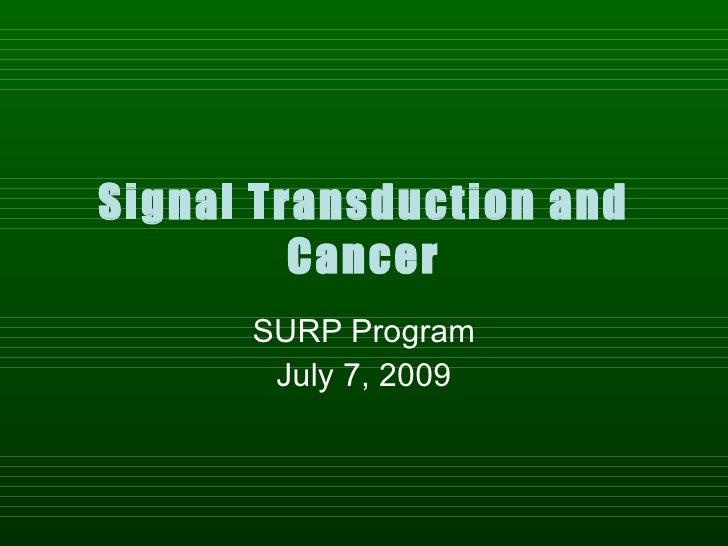 Surp09 Signaling