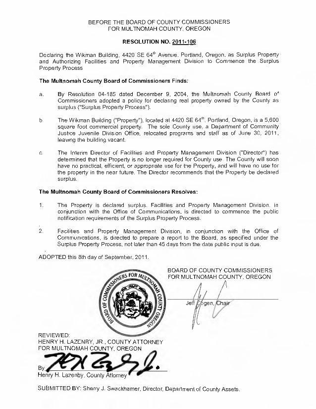 Surplus declaration