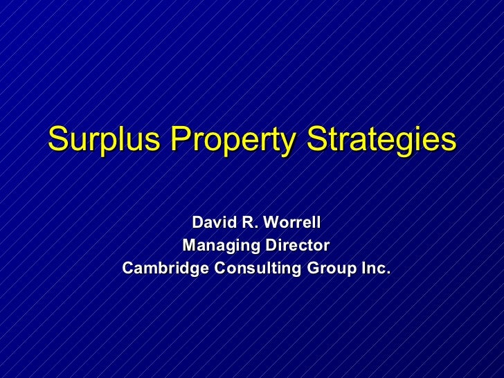 Surplus property strategies course2 p96