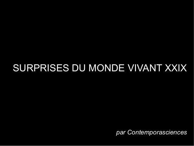 SURPRISES DU MONDE VIVANT XXIX . par Contemporasciences