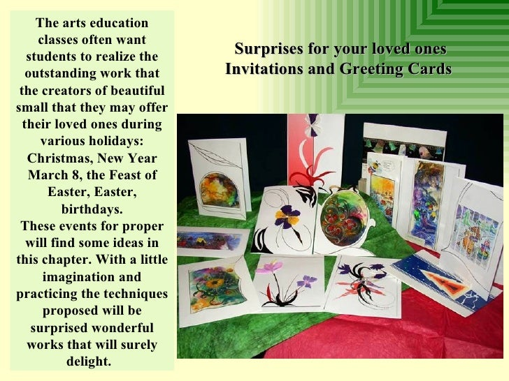 The arts education classes often want students to realize the outstanding work that the creators of beautiful small that t...