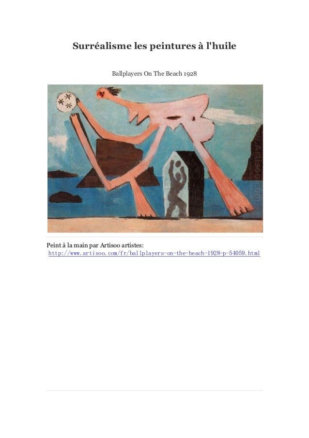 Surré alisme les peintures àl'huile Ballplayers On The Beach 1928  Peint à main par Artisoo artistes: la http://www.artiso...