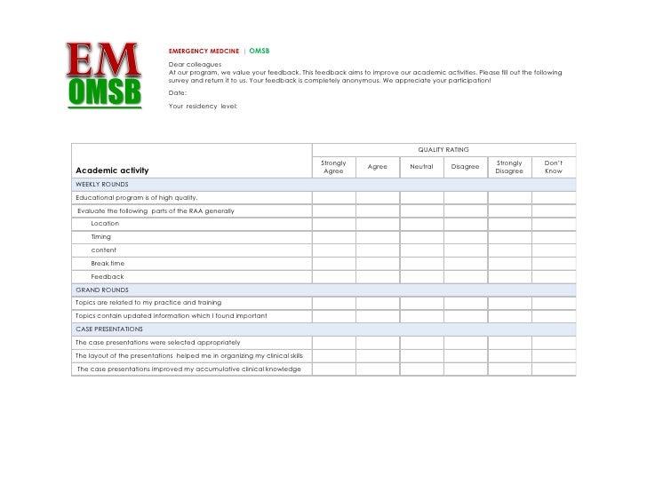 EMERGENCY MEDCINE | OMSB                               Dear colleagues                               At our program, we va...