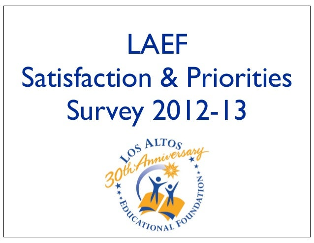 LAEFSatisfaction & PrioritiesSurvey 2012-13