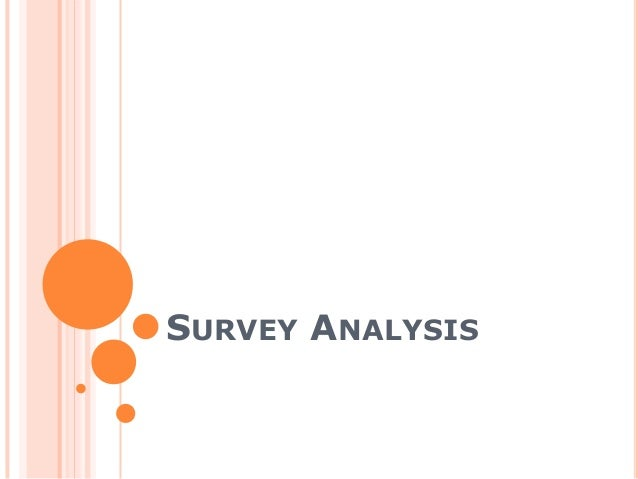 Survey analysis for evaluation q 3