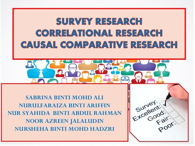 correlational research topics Nutrition & child health status:correlation 5 6 data requirement• cross sectional data• preferred approach as large representative samples and the information on a range of topics can be obtained in a short time period• cost- effective compared to long-term longitudinal studies• limitation: – unlike.