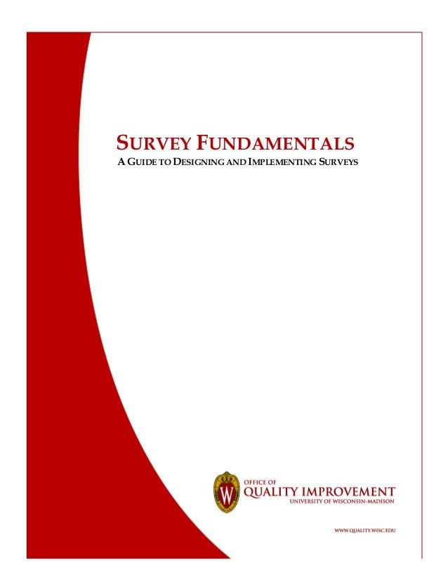Survey design guide