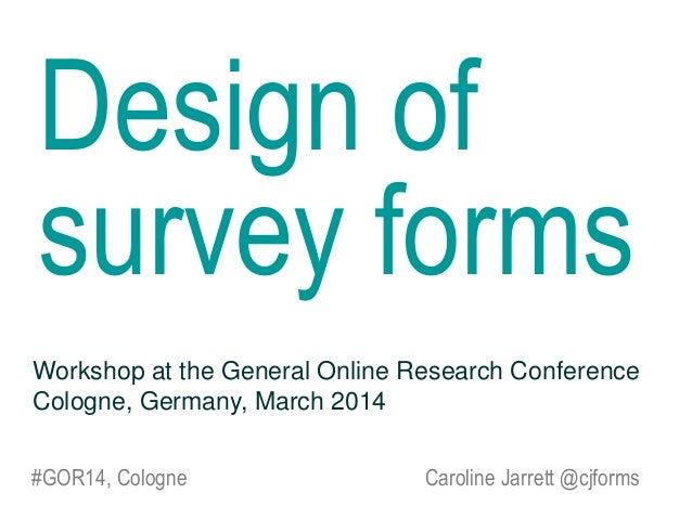 Survey forms GOR14 by @cjforms