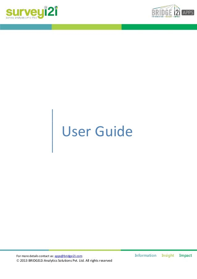 Surveyi2i : Survey Analysis User Guide