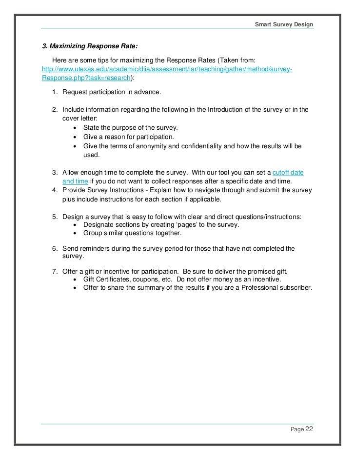 Sample survey monkey cover letter