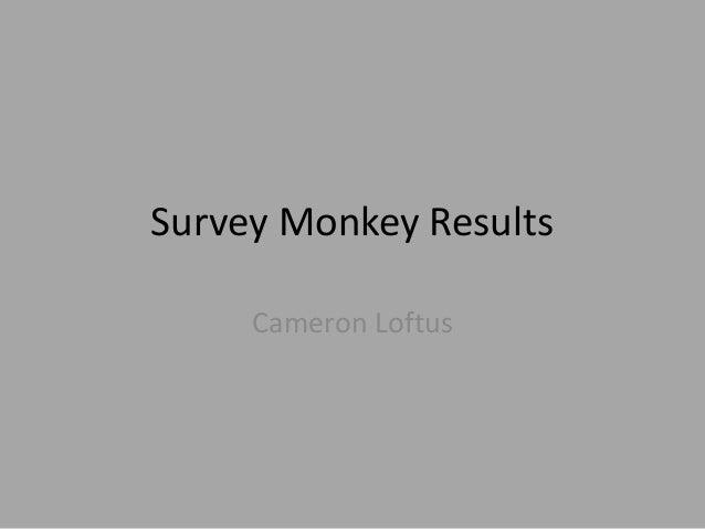 Survey Monkey Results Cameron Loftus