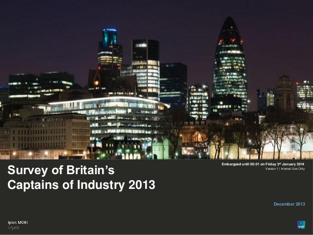 Survey of Britain's Captains of Industry 2013