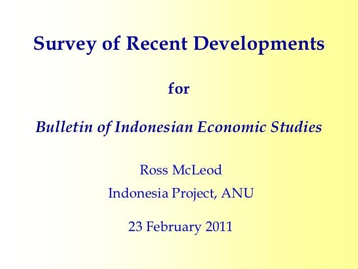 Survey of recent developments