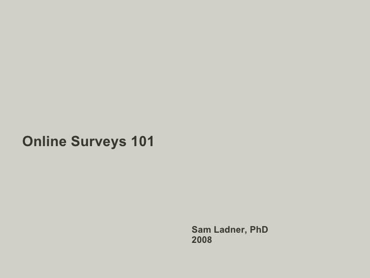 Online Surveys 101