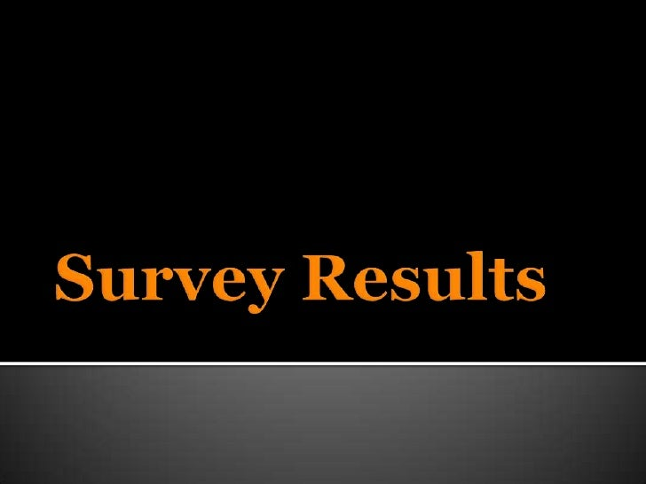 Survey Results<br />