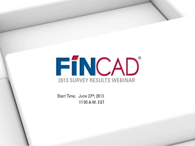 FINCAD Annual Buy and Sell-Side Survey Results Webinar