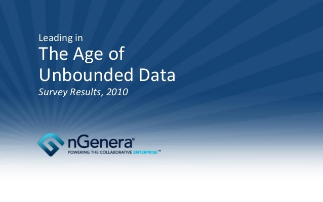 Survey Results Age Of Unbounded Data June 03 10