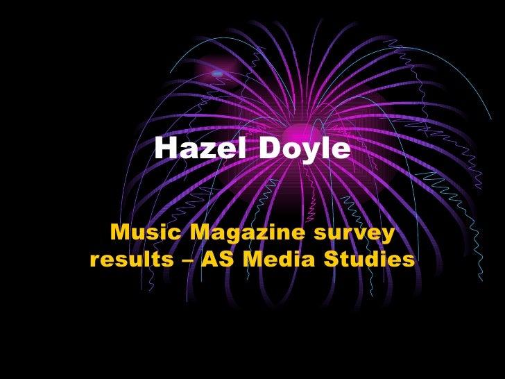 Hazel Doyle Music Magazine survey results – AS Media Studies