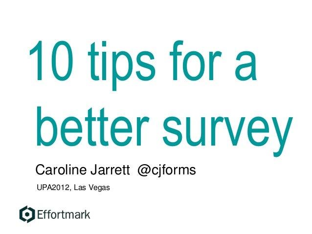 10 tips for a better ux survey for Cj evans home designs