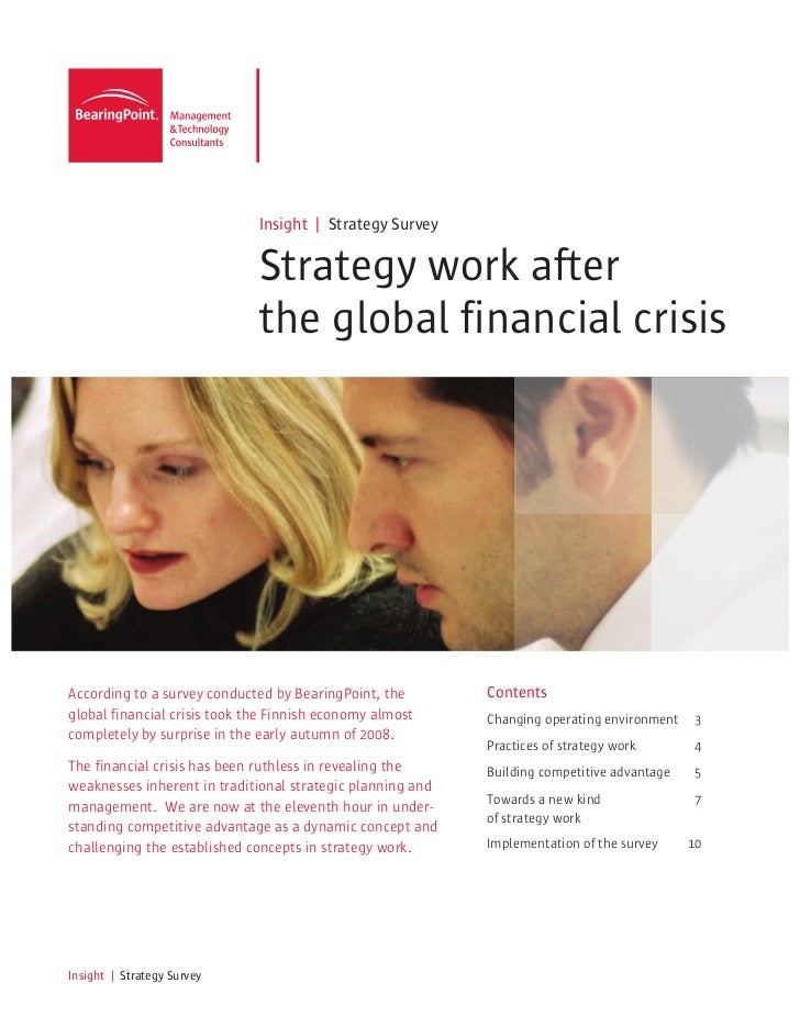 Insight | Strategy Survey                              Strategy work after                              the global financi...