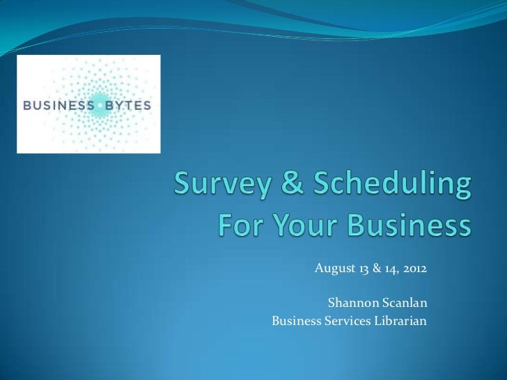 Survey & Scheduling Tools for Business