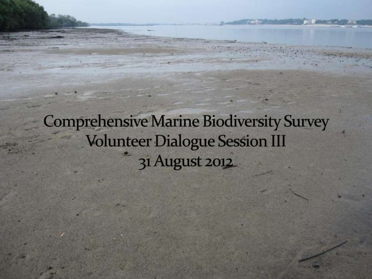  Part I of CMBS 60 Mudflat surveys done since beginning of  projects Lab sorting sessions held in TMSI (NUS campus)  af...