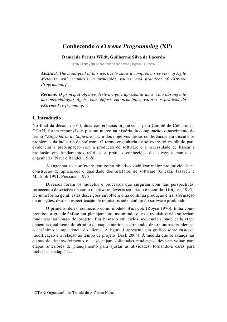 Conhecendo o eXtreme Programming (XP)                    Daniel de Freitas Wildt, Guilherme Silva de Lacerda              ...