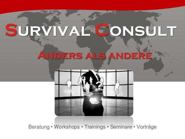 Beratung • Workshops • Trainings • Seminare • Vorträge