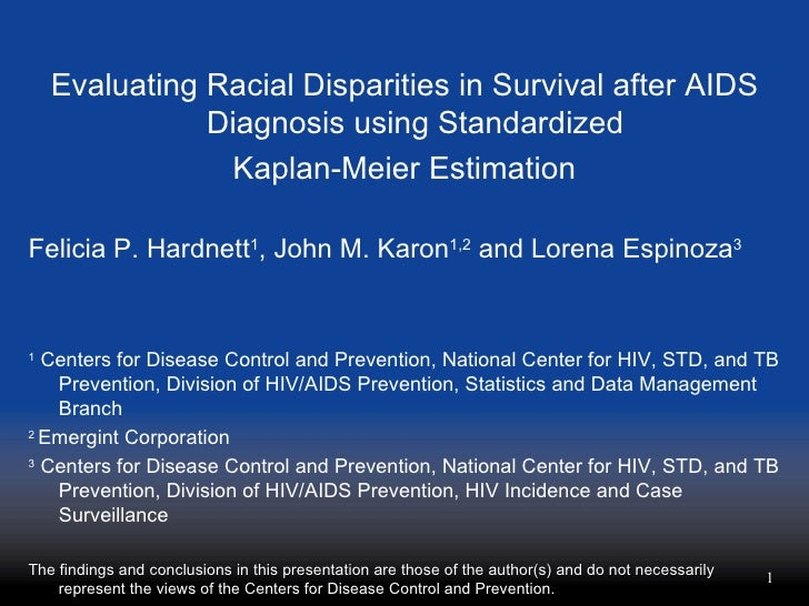 Evaluating Racial Disparities in Survival after AIDS Diagnosis using Standardized