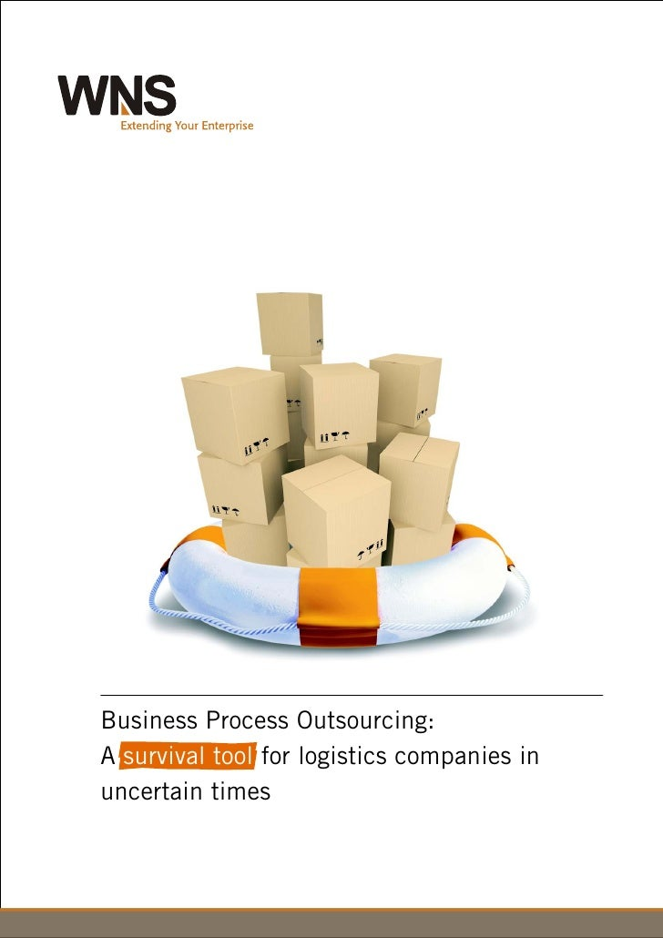 Outsourcing: A survival tool for logistics companies in uncertain times