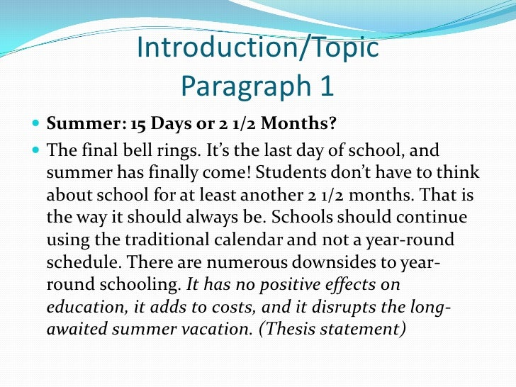 essay on year round schooling Round school as opposed to tradition school because when having year round school schools take more frequent breaks throughout the year these more frequent breaks cause kids to have less stress and without the huge summer break you are not losing the knowledge that you have already learned throughout the year.