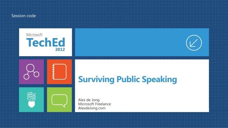 Surviving public speaking