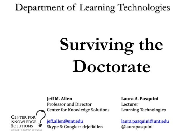 doctoral dissertation defense slides