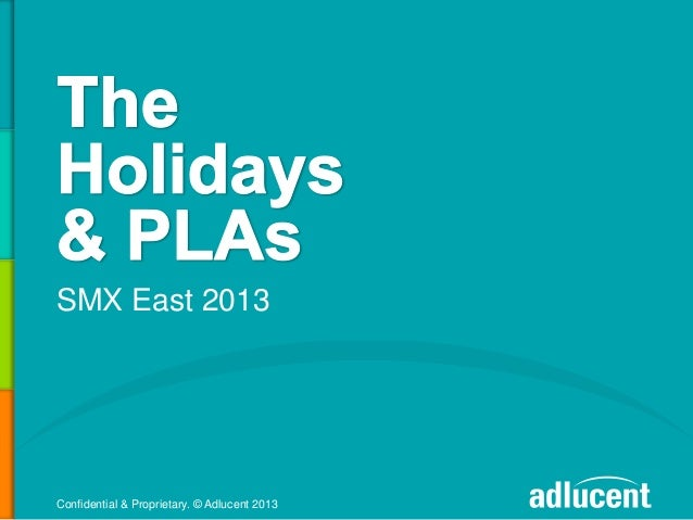 Surviving the Holiday Season with PLAs - Product Listing Ads  by Michael Griffin