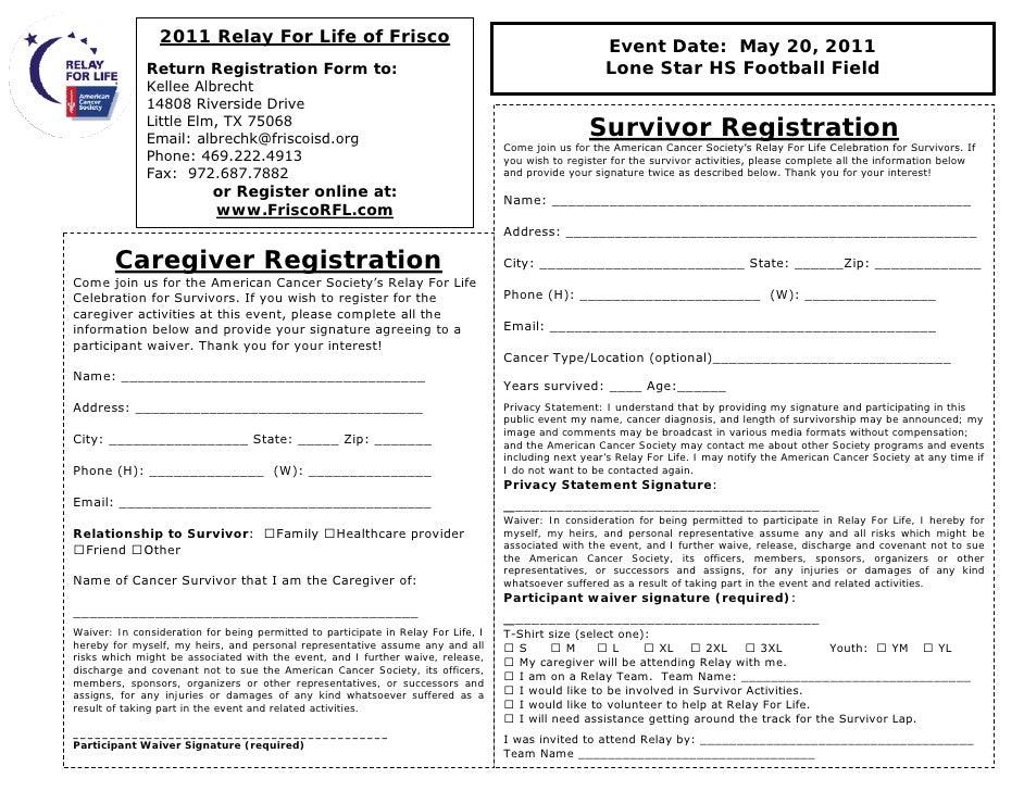 Survivor & Caregiver Registration Form