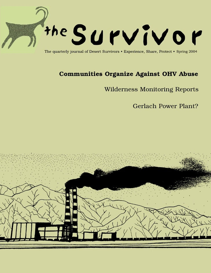 Spring 2004 The Survivior Newsletter ~ Desert Survivors