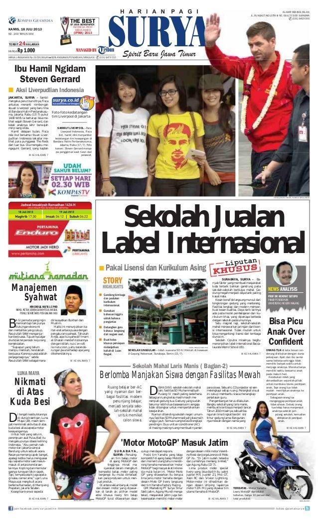 Surya Epaper 18 Juli 2013