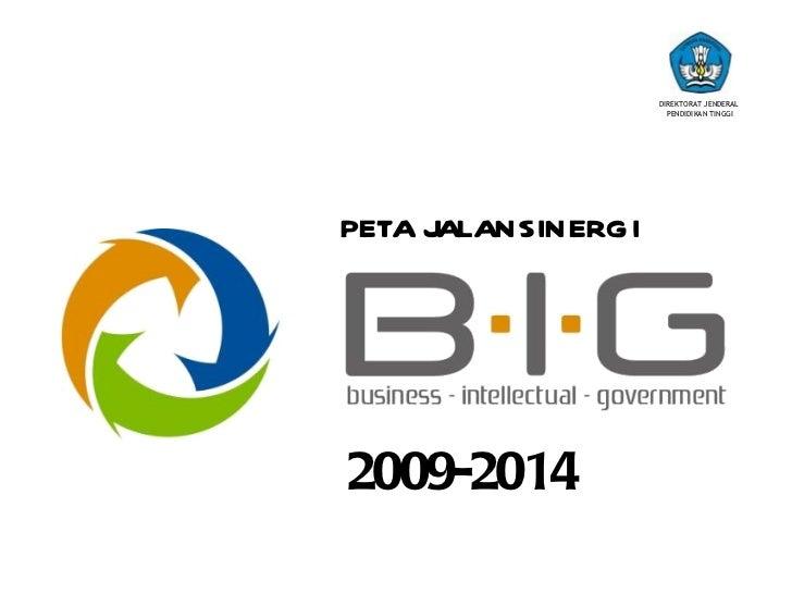 DIREKTORAT JENDERAL                      PENDIDIKAN TINGGIPETA JALANSINERGI2009-2014