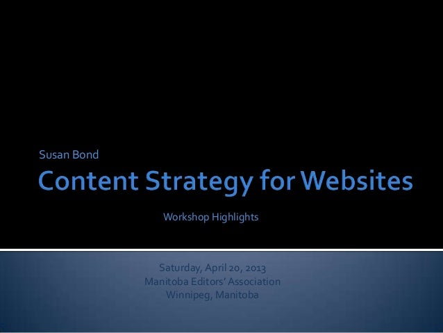 Content Strategy for Websites