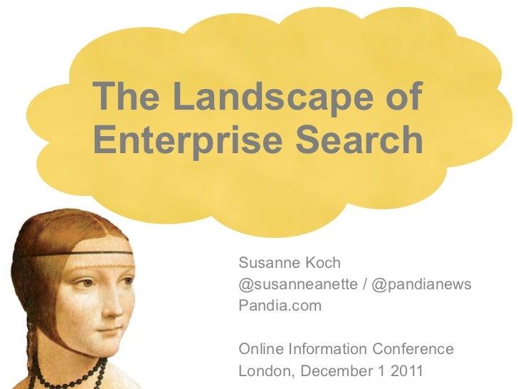 The Landscape of Enterprise Search