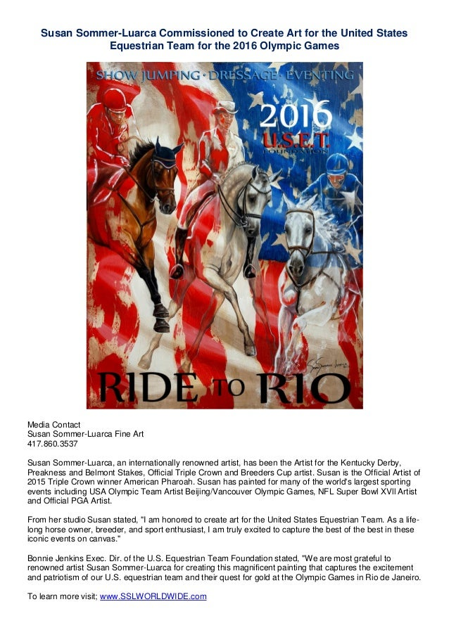 Art for the united states equestrian team for the 2016 olympic games