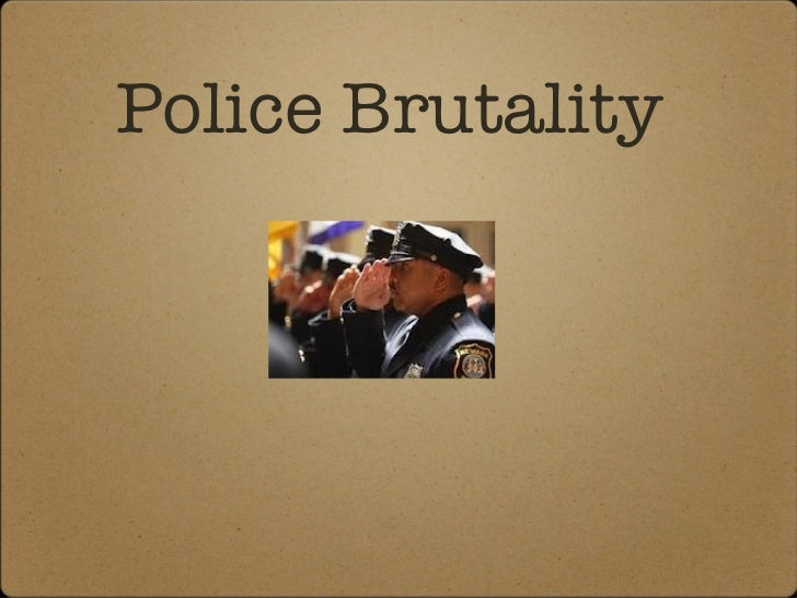 Susan's slideshow on police brutality