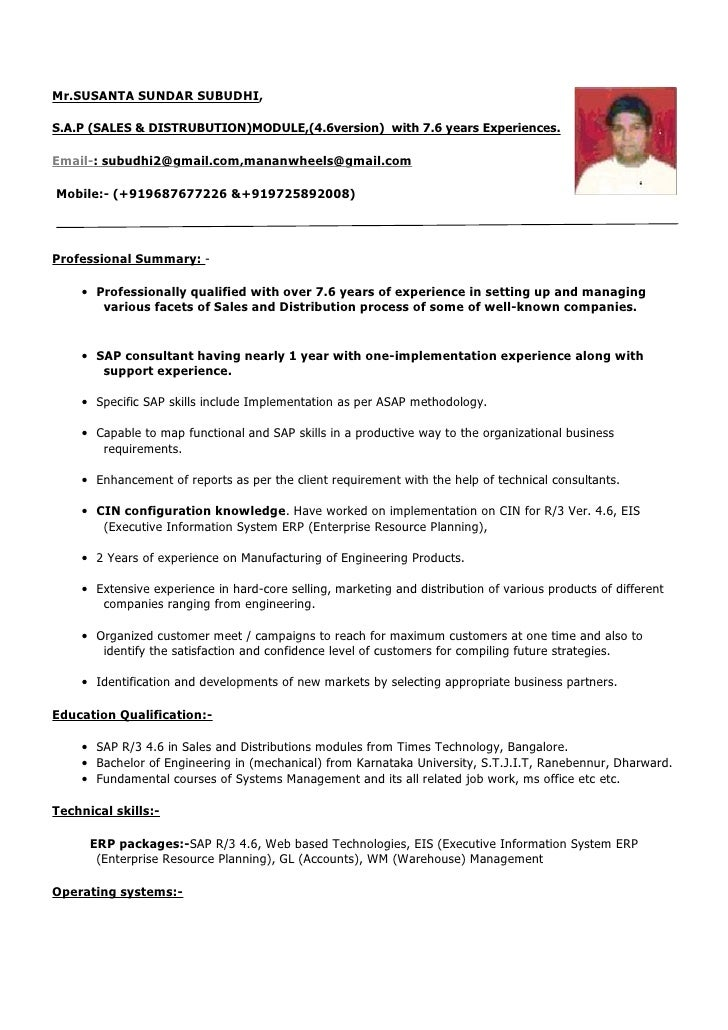 Resume Sample Resume For It Professional With 2 Years Experience sample resume formats for experienced examples