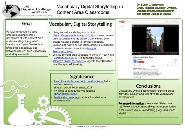 Vocabulary Digital Storytelling