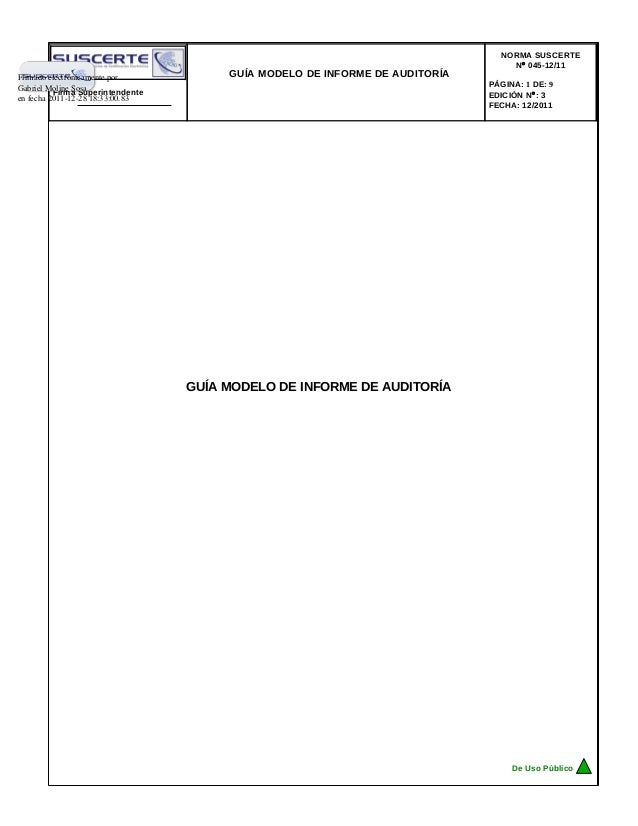 NORMA SUSCERTE                                                                                 N° 045-12/11Firmado electró...